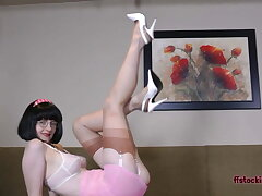 Fit Teacher Julia Gets HORNY and STRIPS!