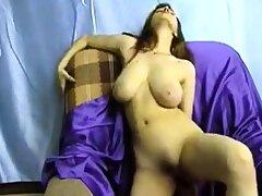 Big boob brunette masturbates on high webcam