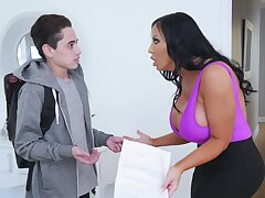 Hapless pupil fully punished by angered stepmom Sybil Stallone