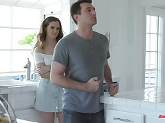 Deep fucking the hot stepdaughter in the morning