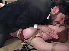 Dirty Lauren Phillips brute punished before getting fucked fast