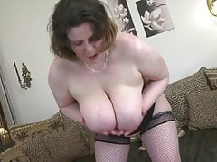SEXY mature MILF with big saggy tits and hungry vagina