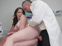 Gyno exam leads Chanel Preston to fuck with the doc