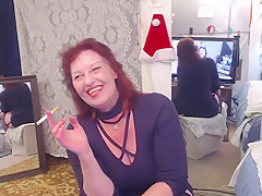 V202 Smokin hot redhead DawnSkye smokes and cums for you