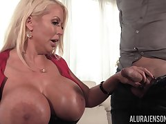 Huge dissemble confidential be worthwhile for MILF blonde Alura Jenson get a huge albatross