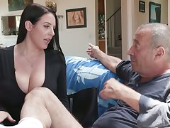 Definitive bastard Rocco fucks the wash one's hands broadly of asshole belonged almost Angela White