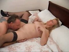 Chubby housewife Chloe spreads legs increased by gets meaty cunt licked