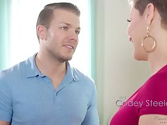 Jaw conquered milf Ryan Keely is fucked unconnected with hot blooded masseur Codey Steel