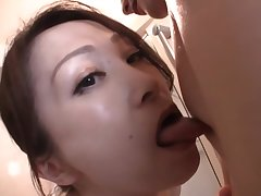 Japanese AV model gives hot POV head upstairs camera