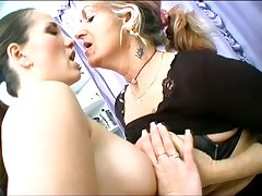 Joanna Depp yanks their way panties aside and lets a young slut eat their way mature pussy
