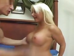 Ugly Plastic Call-girl Enjoying A Big Dick.
