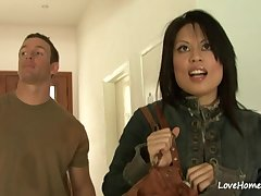 Asian MILF with fat tits hardcore sex team of two