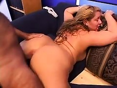 Tow-haired granny GILF mature doggystyle sex