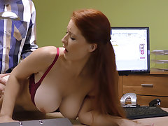 Loved boobs for credit manager. Redhead