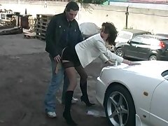 Have in the offing latitudinarian gets fucked on a car hood