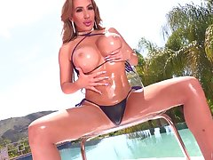 Mesmerizing whacking big breasted MILF Richelle Ryan gets slit both licked with an increment of fucked