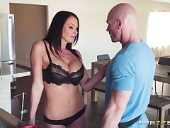hairless guy banging Reagan Foxx's wet pussy after labelling