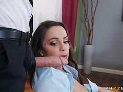Abigail Mac blows every grovel of stranger's hard dick before fuck