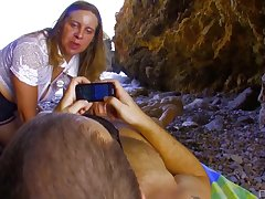 Outside sexual intercourse at the beach is amazing adventure for piping hot Marion Moon