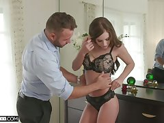 Stunner Whitney Westgate is making adulate with her handsome boyfriend