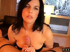 Beautiful milf masturating Stepson till orgasm