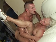 horny 76 age old granny gives a wikd tit have a passion and way-out deepthroat for her young toyboy