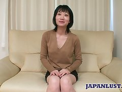 Asian milf Eri Kawasaki is fucked and creampied by queer dude nearly a close-knit locate