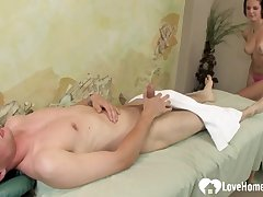 Cute Masseuse Gets Copulated By His Raging Dick