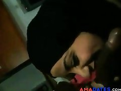 arab girl suck a heavy black bushwa