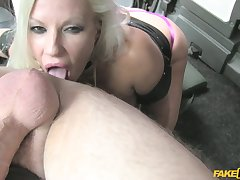 Hardcore pussy fuck beside gorgeous MILF Michelle Thorne