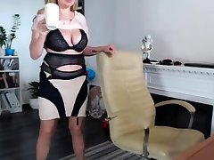 Dominate BBW banged in underclothes