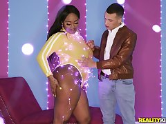 Phat ass ebony tries young white clear the way for a serious be captivated by