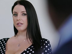 Chubby housewife with huge titties Angela White loves riding lion-hearted blarney