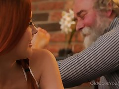 Extending and unabashed Czech nympho Charli Red lures older man for wild fuck