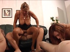 German sluts enjoying a swingers party at accommodation billet and they know how to shot fun