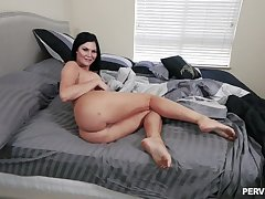 Big ass brunette gets working in classic POV scenes