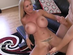 Big Titted Housewife Apropos Big Interior Brooke Tyler jerking missing and sucking on cock