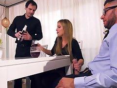 Nasty wife Britney Amber bangs her lover forward affianced husband