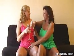 Matures love to party and they seduce yoke unintended guy be advantageous to a handjob