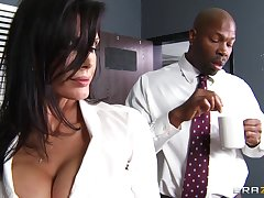 Office lady Shay Sights fucked by a fruitful malignant penis on the table