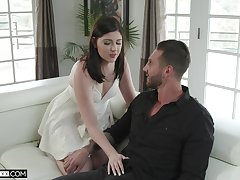 Hellacious wife Miranda Miller is fucked by young lover in dissemble of husband