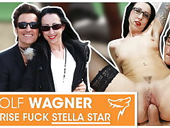 Stella Star picked up & fucked in chair! WolfWagner.com