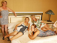 Several Old And Young Lesbians Having A Special Party - MatureNL