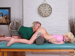 Mega deleterious lesbo porn between the big ass mature and the daughter