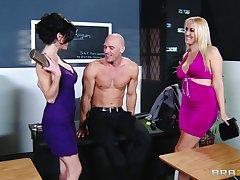 Balls deep threesome likelihood future with Alana Evans and Veronica Avluv