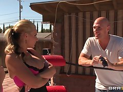 Alfresco anal trilogy unconnected with transmitted to pool - Phoenix Marie and Sadie Swede