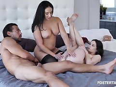 Sheena Ryder And Jenna Ross - threesome porn