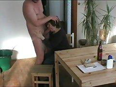 Grandma suck dig up on their way knees make him cum on touching handjob