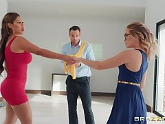 Guy cheats more than his young gentleman there zesty dance instructor Bridgette B.