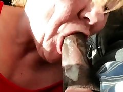 Aged GILF gumming black locate and swallows